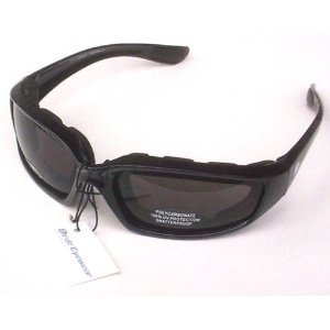 Birdz Oriole Motorcycle Padded Glasses Smoked Anti Fog Foam Padding on the Entire Inside of the Glasses