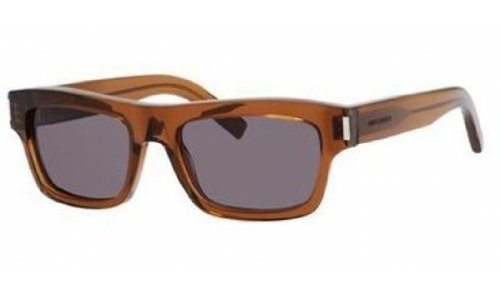 Yves Saint Laurent Yves Saint Laurent Bold 3/S Sunglasses-0K7M Brown (Y1 Gray Lens)-52mm