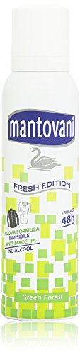 Mantovani - Fresh Edition, Deodorante Spray, Natura Verde, 150 ml