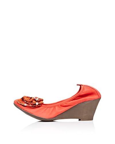 Bueno Shoes Zapatos de Cuña Abalorios