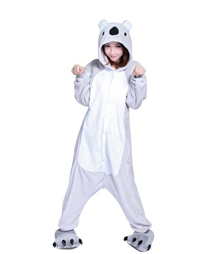 Ferrand Kigurumi Pigiama Unisex Adulto Cosplay Costume Animale Pigiama Koala Grigio M