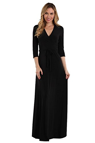 Zoozie LA Women's Maxi Dress with Belt Tie and Mock Wrap (Inc Dress Wrap compare prices)