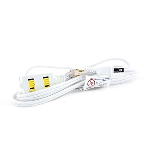 Extension Cords 12 FT 3 Outlet Indoor Wall AC Extension Cord Cable Safety Switch White UL Listed (Slimline Air Conditioner compare prices)
