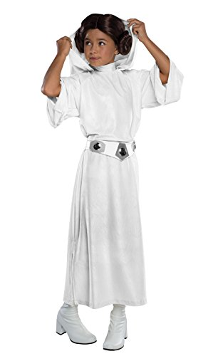 Rubie's Costume Star Wars Classic Princess Leia Deluxe Child Costume, Medium (Kids Costumes For Girls Princess compare prices)