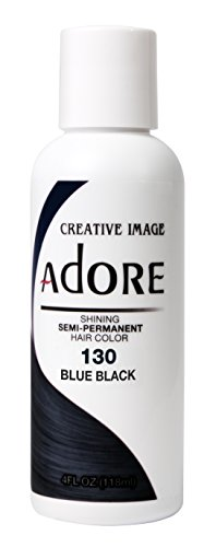 Adore Semi-permanent Hair Color (#130 Blue Black) (Neon Permanent Hair Dye compare prices)
