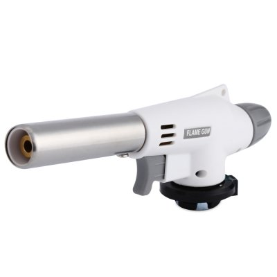 Wooboo Flame Gun Butane Burners Automatic Electronic Wind Proof Cooking Gas Torch Burner for Hiking Camping (White) (Food Propane Torch compare prices)
