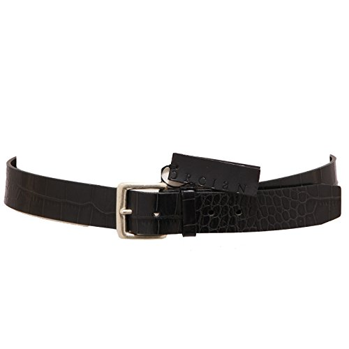3455Q cintura uomo ORCIANI nero hand made belt men [90 CM]