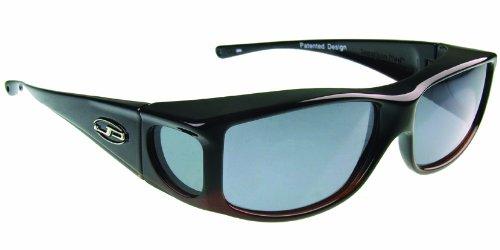 Fitovers Eyewear Jett Sunglasses, Matte Black, Polarvue Gray