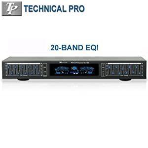 Exclusive Professional Equalizer With Digital Spectrum By TECHNICAL PRO®
