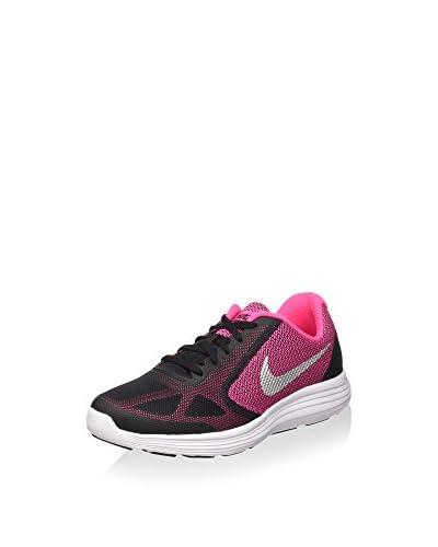 Nike Zapatillas Revolution 3 (Gs) Negro / Fucsia