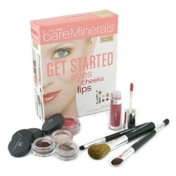Bare Escentuals Get Started Eyes Cheeks Lips 8 Piece Collection - # Fair To Light Complexions