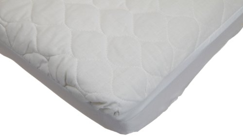 New American Baby Company Waterproof Fitted Quilted Cradle Mattress Pad