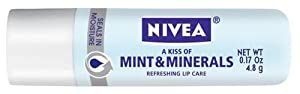 Nivea Kiss of Mint and Minerals Lip Care Blister Card, 0.17 Ounce (Pack of 3)