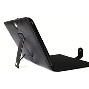 Premium Black Leather Book Style Case with Build in Stand + Screen Protector for Apple Ipad Wifi / 3g