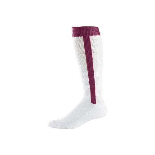 Youth Baseball Stirrup Socks - Maroon chic rhinestone arrow shape cuff bracelet for women
