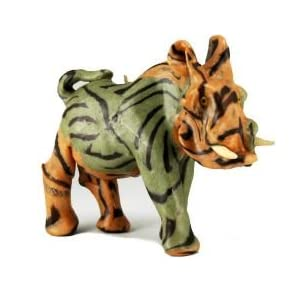 Imported African Handmade Warthog Safari Animal Candle, medium