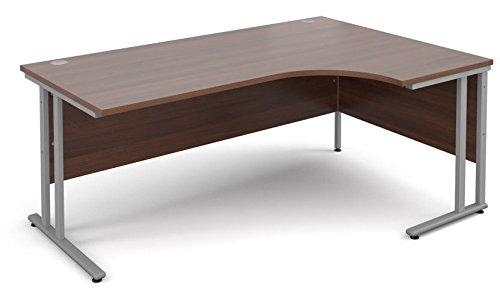 Corfield Office Furniture Range - Right Hand Crescent Desk 1800mm in Beech, Maple, Oak, White or Walnut - from Relax Office Furniture, Ergonomic Desk (Walnut)