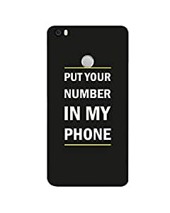 GripIt Put Your No in My Mobile Printed Case for Xiaomi Mi Max