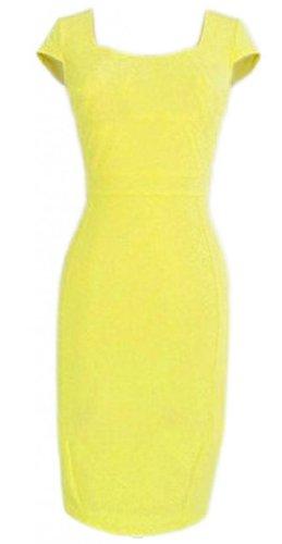 Women'S Temperament Square Neck Sleeveless Bodycon Slim Pencil Dress 00P
