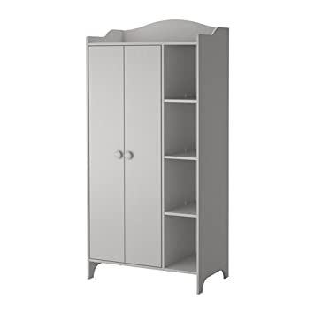 IKEA TROGEN - Armario, gris claro - 89x187 cm