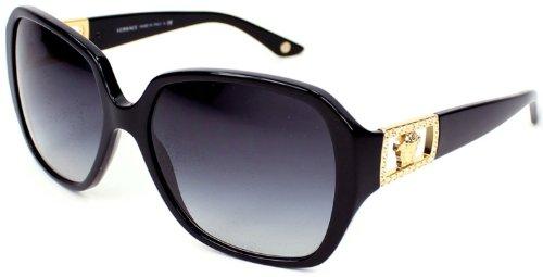 Sale alerts for Versace Versace Women's Gradient VE4242B-GB1/8G-57 Black Rectangle Sunglasses - Covvet