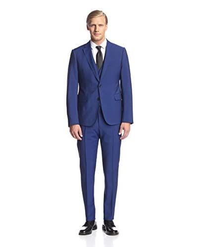 Armani Collezioni Men's 2 Button Notch Lapel 3 Piece Suit