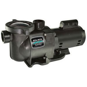 Pentair Sta-Rite N1-1A HP SuperMax Standard Efficient Single Speed High Performance Inground Pool Pump, 1 HP, 115/230-Volt