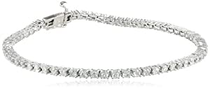 14k Gold 4-Prong Diamond Tennis Bracelet (2 cttw, H-I Color, I1-I2 Clarity) from Amazon Curated Collection