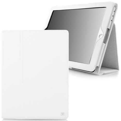 CaseCrown Bold Standby Case (White) for the new iPad & iPad 2 (Built-in magnet for sleep / wake feature)