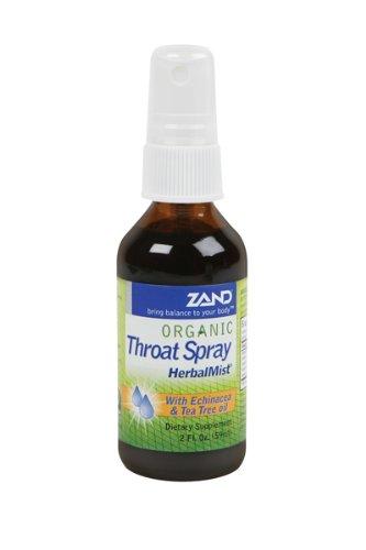 Zand Organic Throat Spray Herbalmist -- 2 Fl Oz