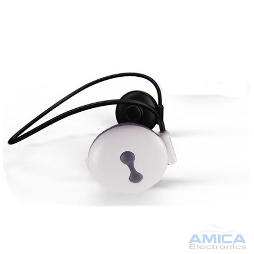 White Wireless Stereo Bluetooth Headset With Built-In Mic For All T-Mobile Phones