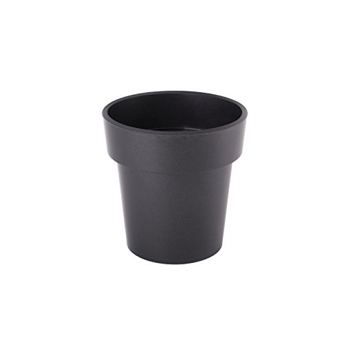 Juypal Premium Polypropylene Flower Pot (Black, 01382)