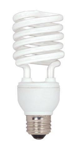 Satco S7231 26-Watt Medium Base T2 Mini Spiral, 2700K, 120V, Equivalent To 100-Watt Incandescent Lamp For Enclosed Fixtures