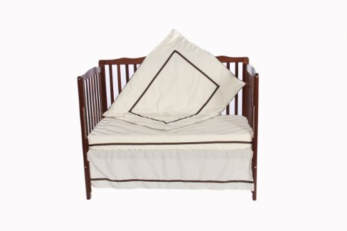 Baby Doll 3 Piece Crib Bedding Set, Ecru