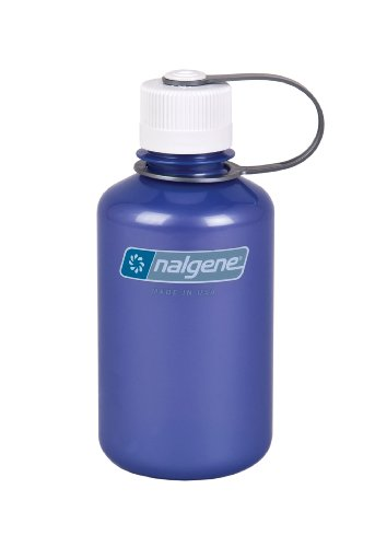 Nalgene Translucent Narrow Mouth Bottle With White Lid (Trans Lilac, 1 Pt) front-435476