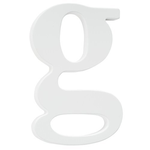 Koala Baby Lowercase Wall Letter G - White