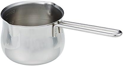 タケコシ 18-8ミルクパン 12cm 800cc目盛付 ワイヤーハンドル
