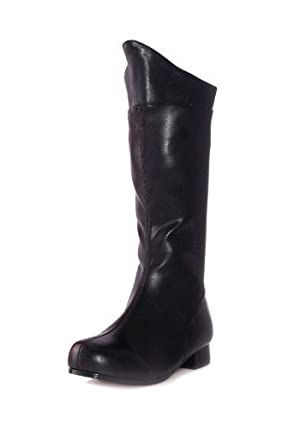 1 Inch Heel Superhero Ankle Boot Children's (Black PU;Medium) by Ellie Shoes