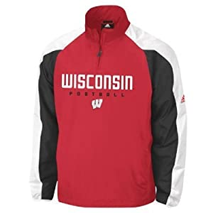 Adidas Wisconsin Badgers Coaches Pullover Jacket by adidas
