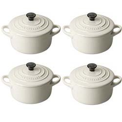 Le Creuset Petit Casseroles Set of 4 Almond