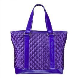 perlina-quilted-satin-tote-matching-clutch-purse-set-purple