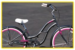 Anti-Rust aluminum frame, Fito Brisa Alloy 3-speed - Grey/Hot Pink, women's Beach Cruiser Bike Bicycle, Shimano Nexus Equipped