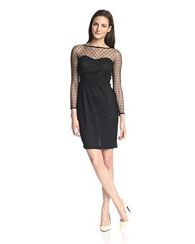 Eva Franco Women's Abey Long Sleeve Polkadot Dress