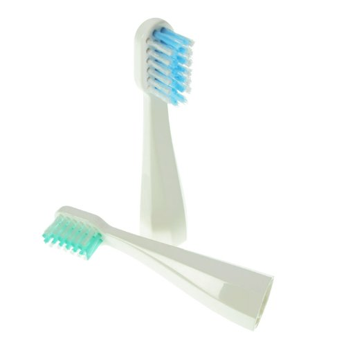 Replacement Heads For Dazzlepro Xvr-2907 Travel Sonic Toothbrush, Set Of 2