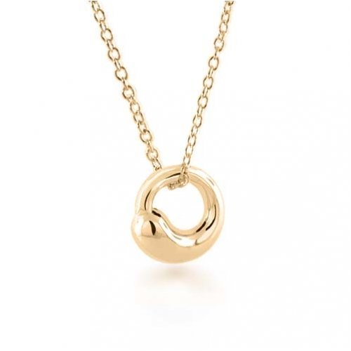 Bling Jewelry Eternal Circle Gold Vermeil Pendant Necklace 16 inches