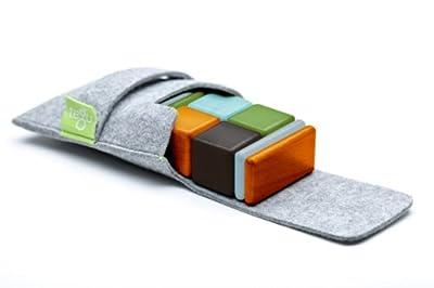 Buy Tegu Pocket Pouch Magnetic Wooden Block Set, Nelson - Model: A-11-058-SJG 8 Piece