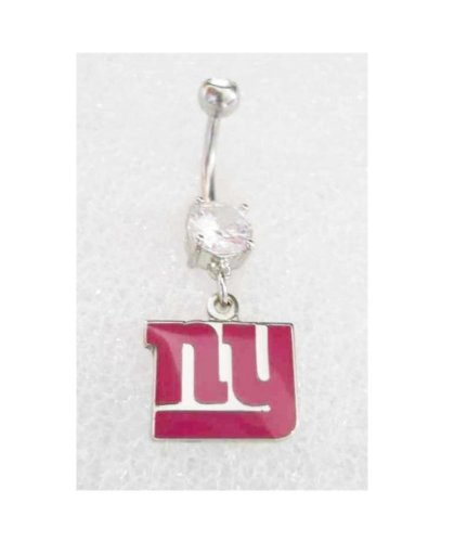 NFL NY NEW YORK GIANTS FOOTBALL PINK BREAST CANCER AWARENESS Navel Belly Button Ring Piercing at Amazon.com