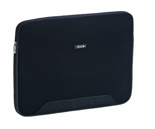 SOLO CQR Collection CheckFast Airport Security-Friendly Laptop Sleeve for Notebook Computers up to 14.1 Inches, Black (CQR106-4)