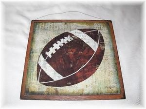 Football Sports Wall Art Sign Boys Bedroom Decor from The Little Store Of Home Decor