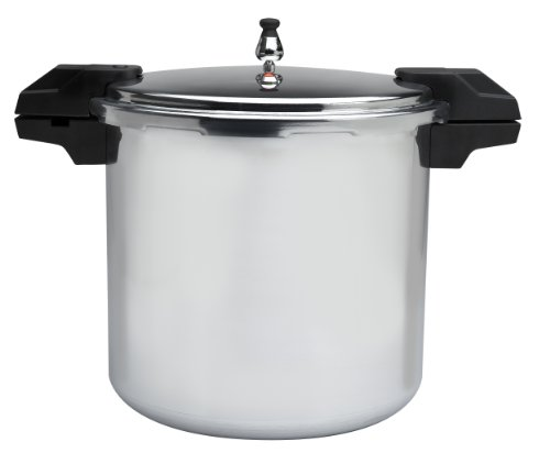 Mirro 92122A Polished Aluminum Dishwasher Safe 22-Quart Pressure Cooker Canner Cookware, Silver